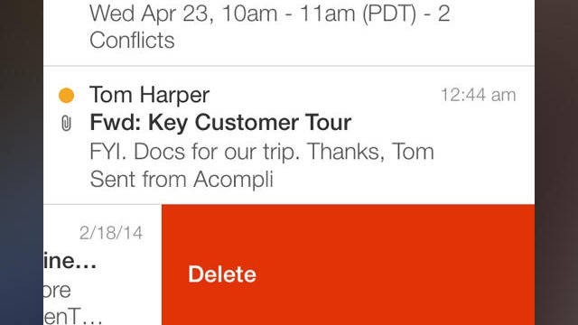 Acompli Email App Updated With Google Drive And Dropbox Integration