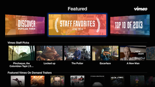 The Vimeo Channel On Apple TV Gets A Facelift And New Discovery Tools