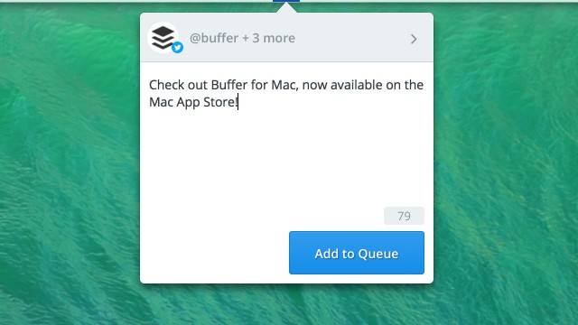 Buffer launches official Mac app to let you share updates right from the OS X menu bar