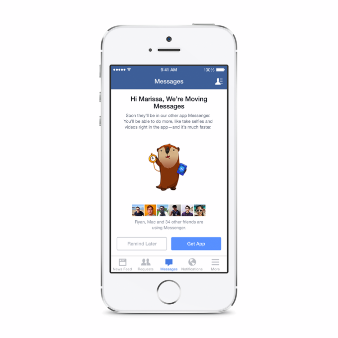 Facebook to disable messaging in main iOS client in favor of Messenger app