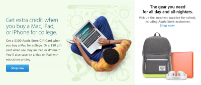 Apple Launches Its Back To School Program: Offers Gift Cards For Mac, iOS Purchases