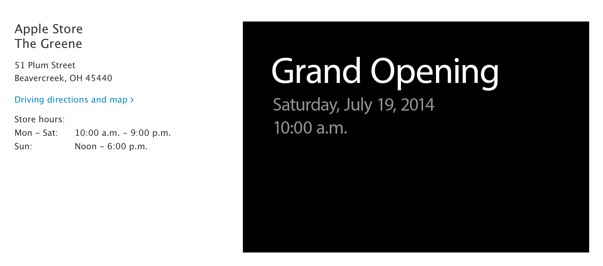 Apple is launching a new retail store in Beavercreek, Ohio this weekend