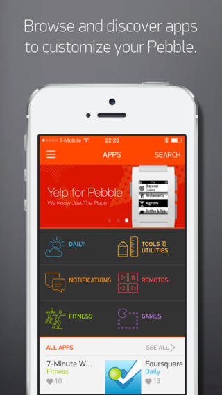 Pebble updates its iOS app to bring new watchapps, proximity improvements