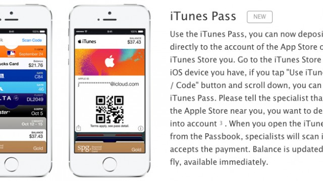 Apple introduces 'iTunes Pass' in Japan, lets customers top-up iTunes credit using Passbook