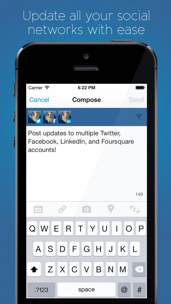 Hootsuite for iOS updated with new compose screen featuring new social network picker