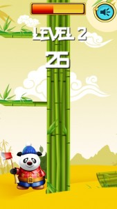 Addictive arcade game Timber Panda tests your bamboo-chopping reflexes