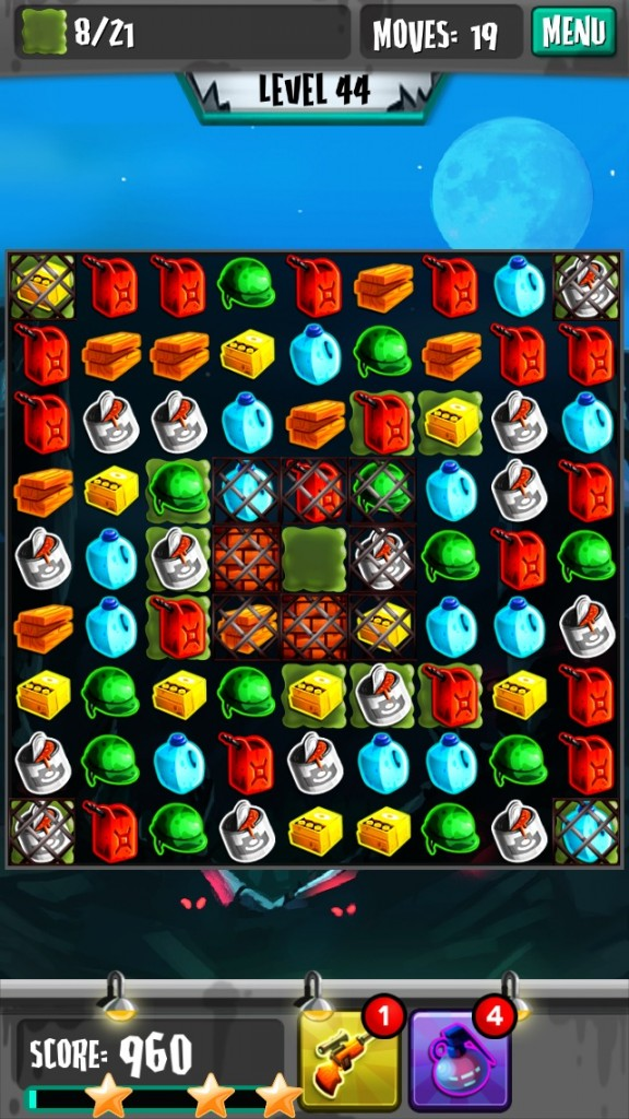 Match To Survive A Zombie Apocalypse In Zombie Puzzle Panic