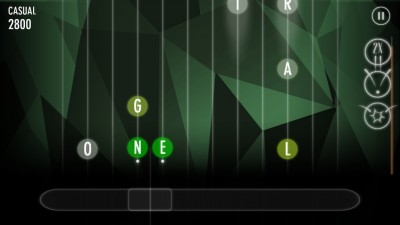 Words and music come together to form Alphabeats, a unique and challenging word game