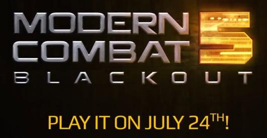 Gameloft's Modern Combat 5: Blackout gets new trailer ahead of its launch next week