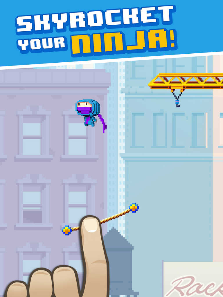 Hiyaaa! Gameloft dares you to jump and go as high as you can in Ninja Up!