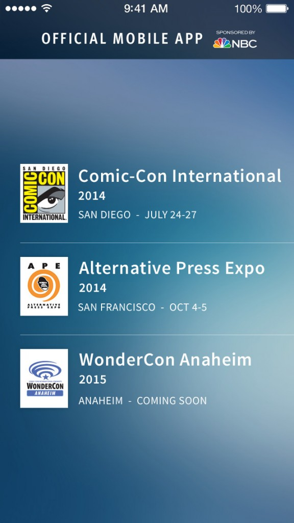 San Diego Comic-Con updates official iOS app with new design and new features