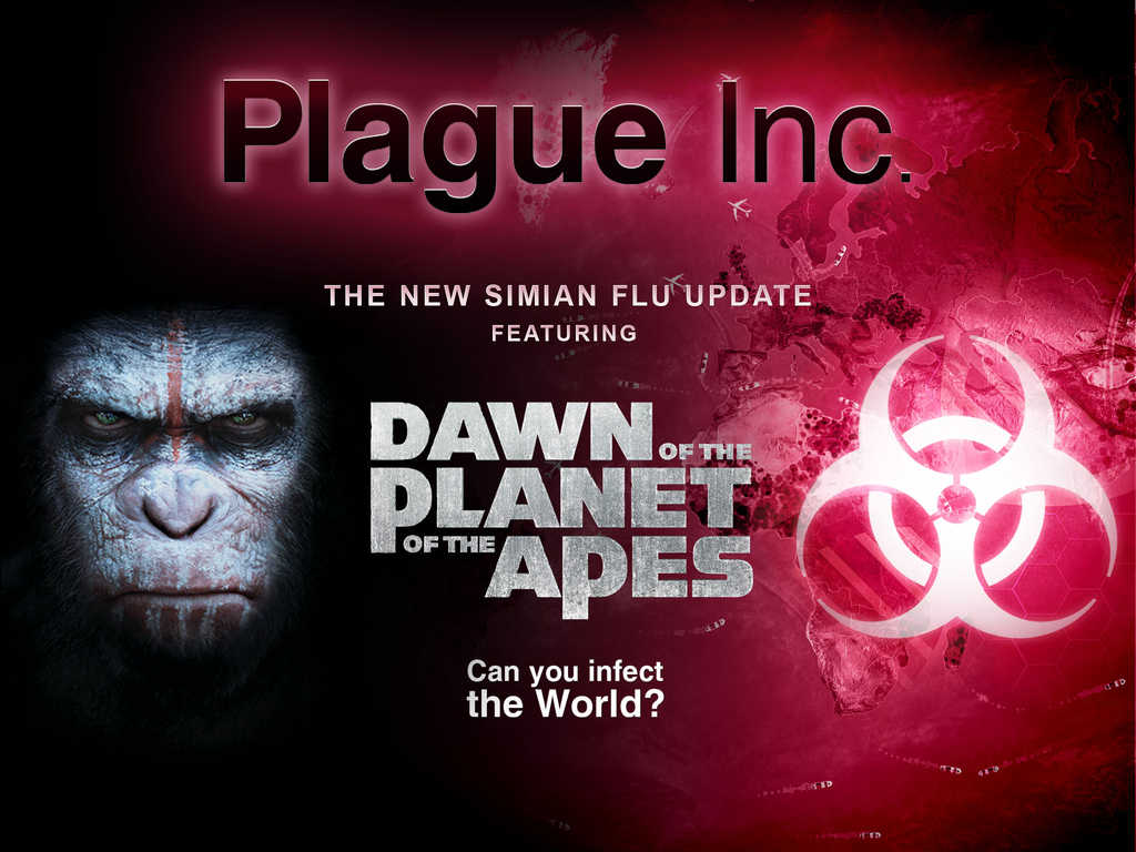 Plague Inc. gets infected with Simian Flu from 'Dawn of the Planet of the Apes'