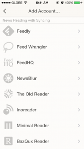 Reeder 2 for iOS and Mac updated with support for additional sync services