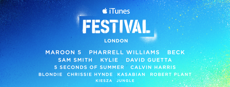 Apple announces its 2014 iTunes Festival London, scheduled for this September