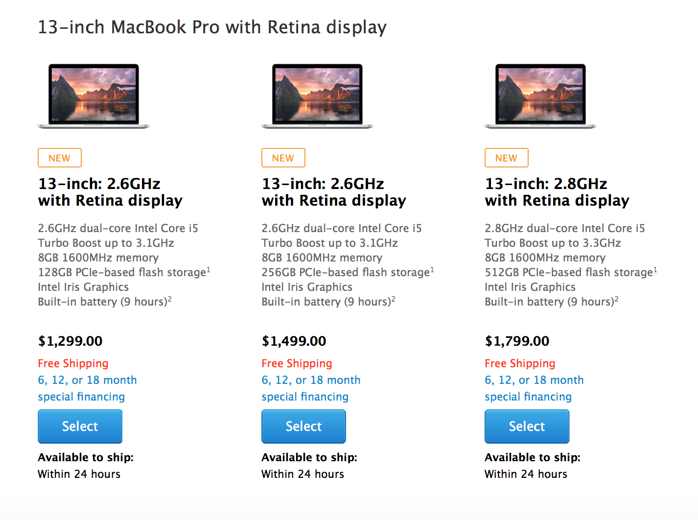 Apple refreshes its Retina MacBook Pros: adds faster processors, more RAM