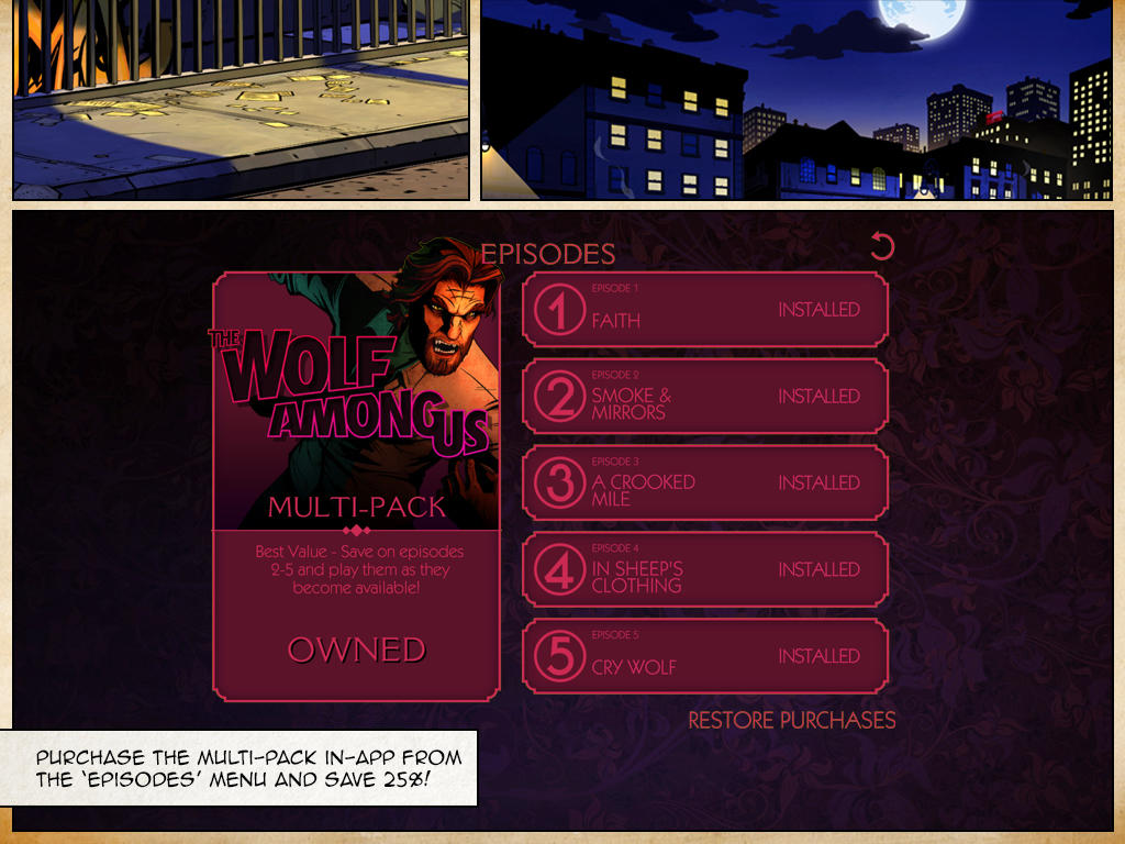 Telltale releases 'Cry Wolf' season finale of The Wolf Among Us on iOS