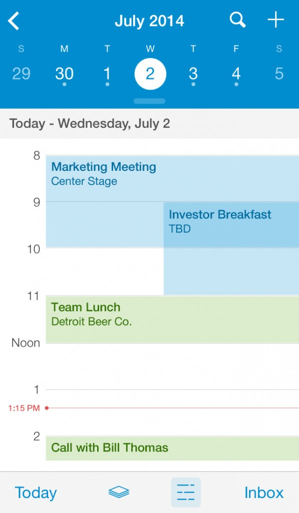 UpTo Calendar updated with search feature, improved day view, reminders and more