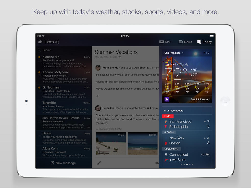 Yahoo Mail For iPad Updated With News, Search, Daily Info Snapshots And More