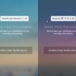Yahoo Weather updated with twice daily customizable notifications