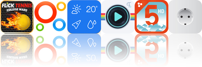Today's Apps Gone Free: Flick Tennis, Intervals, Weathercube And More
