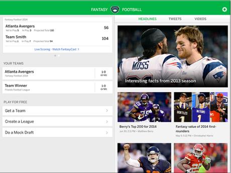 With the NFL season just around the corner, ESPN updates its Fantasy Football app