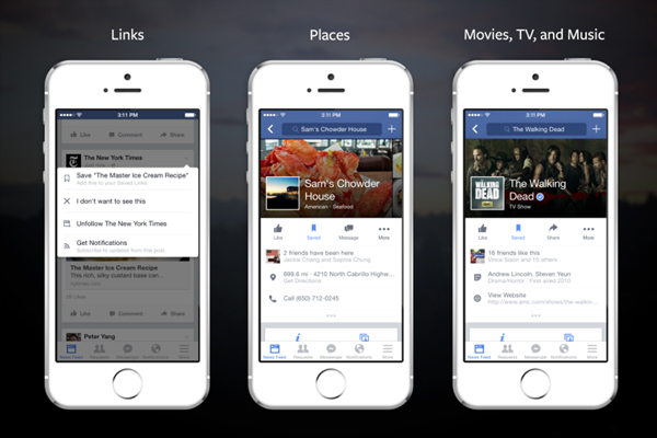 Facebook unveils a Pocket-like save feature