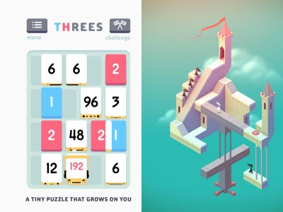 Acclaimed iOS Games Threes! And Monument Valley Go On Sale For First Time Ever