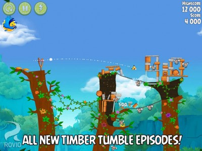 Timbeeer! Rovio updates Angry Birds Rio with new Timber Tumble episode