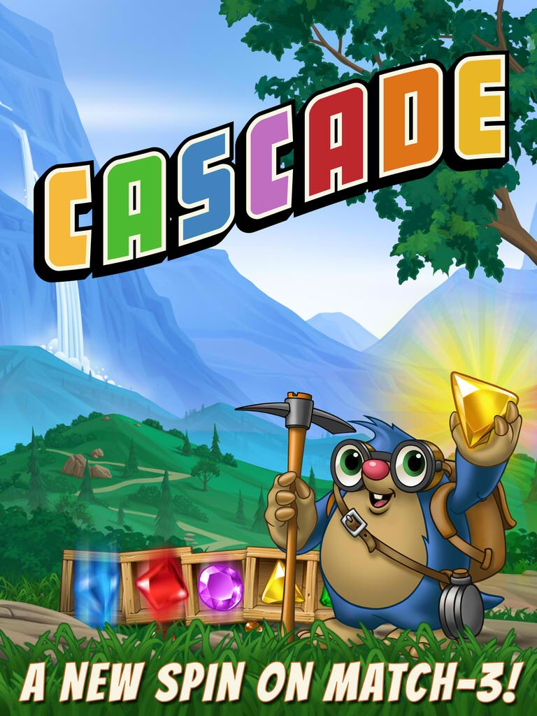 Big Fish's Candy Crush Saga competitor Cascade offers a new spin on match-3 puzzles