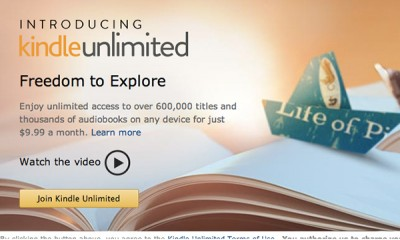 Amazon's Kindle Unlimited lets you read and listen all you want for $9.99 a month