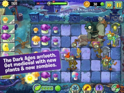 Part 2 of the Dark Ages world arrives for Plants vs. Zombies 2