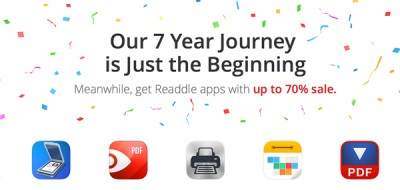 To celebrate its 7th anniversary, Readdle is offering up to 70 percent off its popular apps
