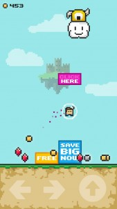 Crush some pesky ads and rescue a princess in FFFFF2P, a new retro arcade platformer