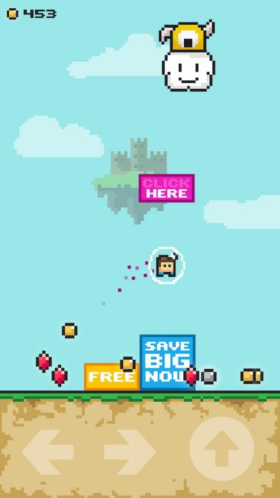 Crush some pesky ads and rescue a princess in FFFFF2P, a new retro arcade platformer