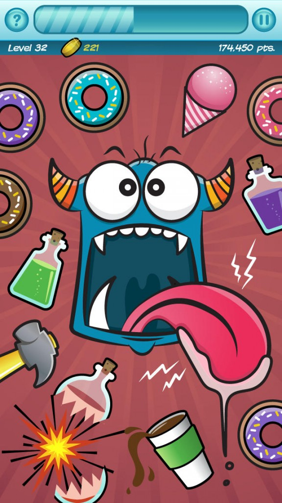 It's time to feed the beast in Monster Head, a frantic arcade game