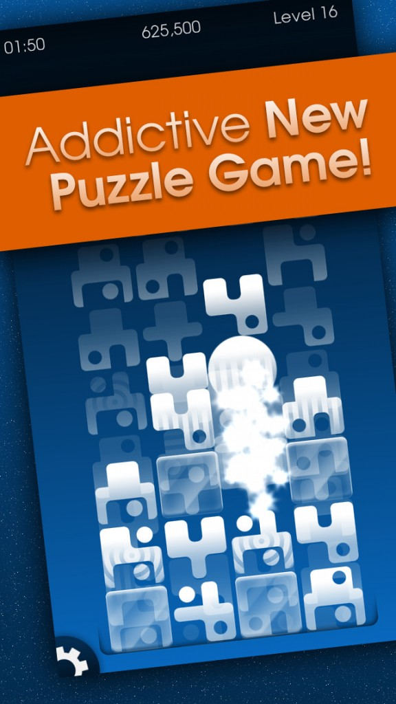 Stack and connect the pieces in Puzzix, an addictive match-three puzzle game