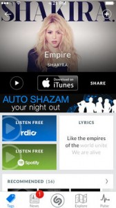 Shazam update brings full-track playback via Rdio