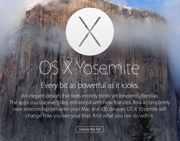 A new report says Apple's OS X Yosemite will arrive in October