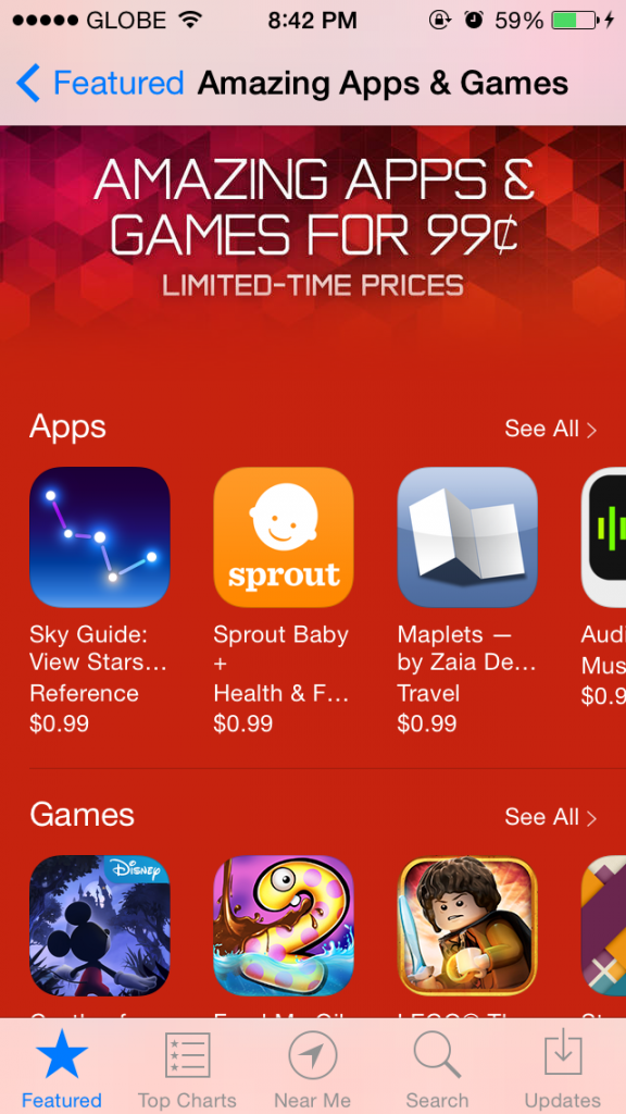 Apple features 'Amazing Apps & Games' on limited-time sale for only $0.99 each