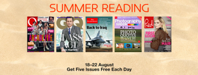 Apple offering free Newsstand magazine issues ahead of summer bank holiday in UK