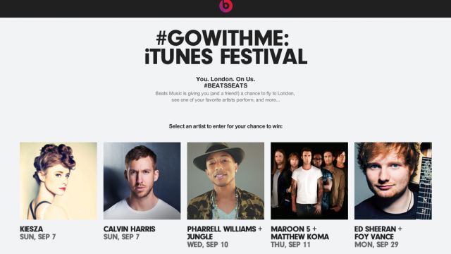 Apple's Beats Music raffling off tickets to iTunes Festival London 2014