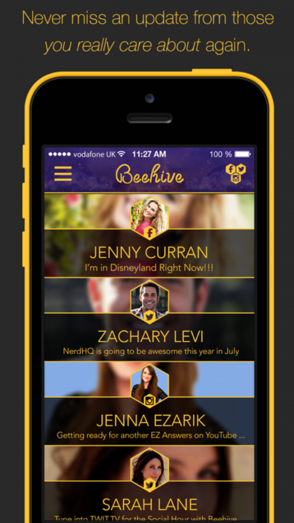 Social networking app Beehive condenses Facebook, Instagram and Twitter
