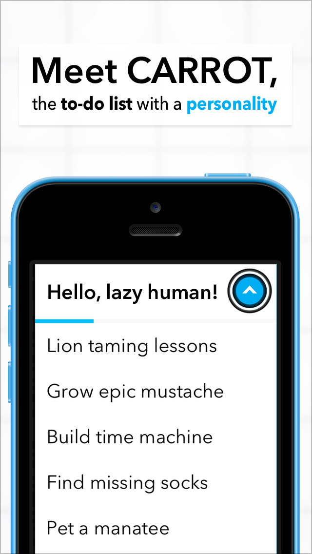 Hey, lazybones! Carrot To-Do and Carrot Alarm have some neat new stuff just for you