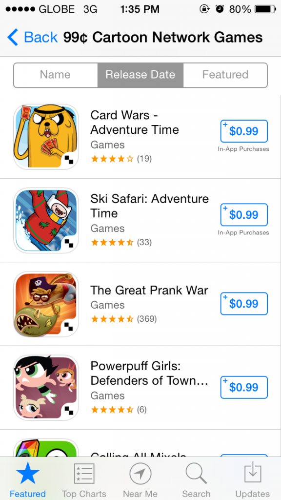 Mathematical! Apple features Cartoon Network games on $0.99 sale on the App Store