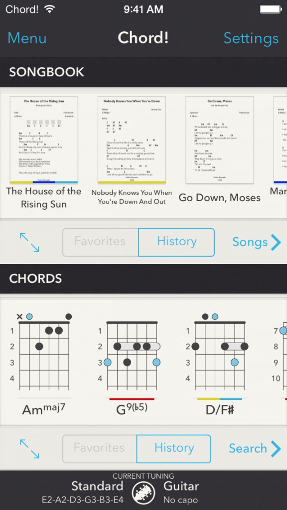Chord Guitar App Goes 20 With Universal Support New Songbook Mode