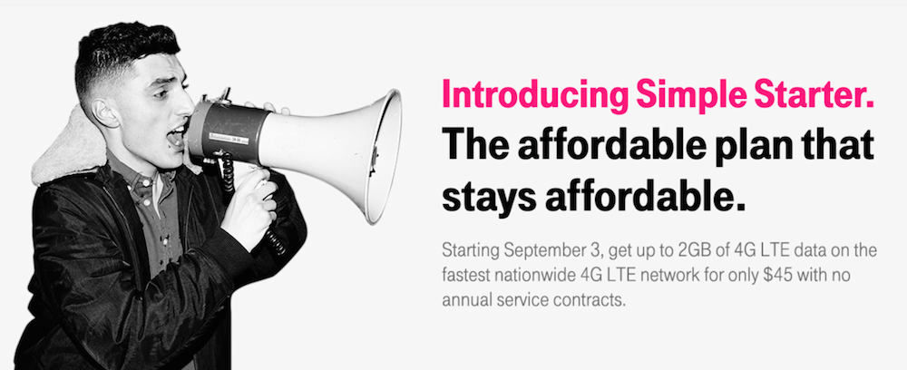 For $5, T-Mobile Simple Starter customers can soon quadruple 4G LTE data limits