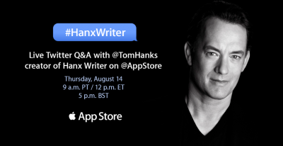 Read the entire Tom Hanks interview with the App Store on Twitter, all about apps