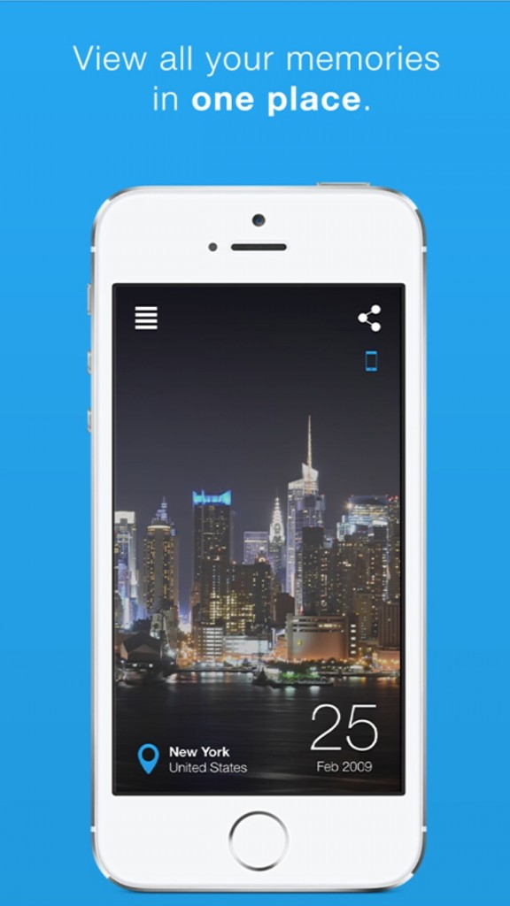 Relive memories from photos, events and status updates with Driftback