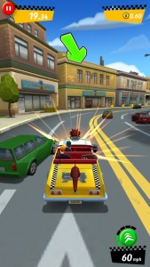 Put the pedal to the metal to get the job done in Crazy Taxi: City Rush