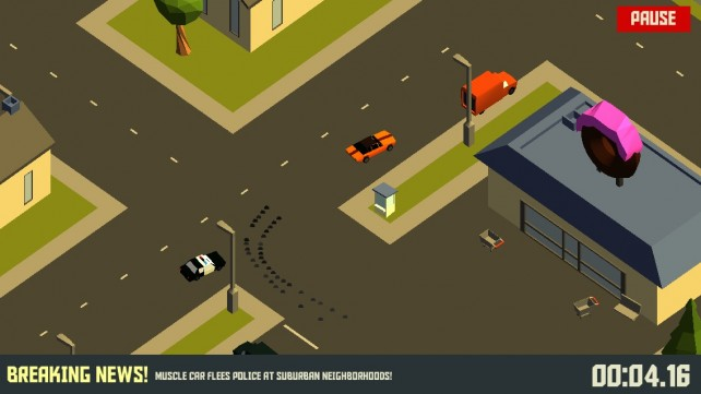 How long can you outrun the cops? Find out in Pako - Car Chase Simulator for iOS